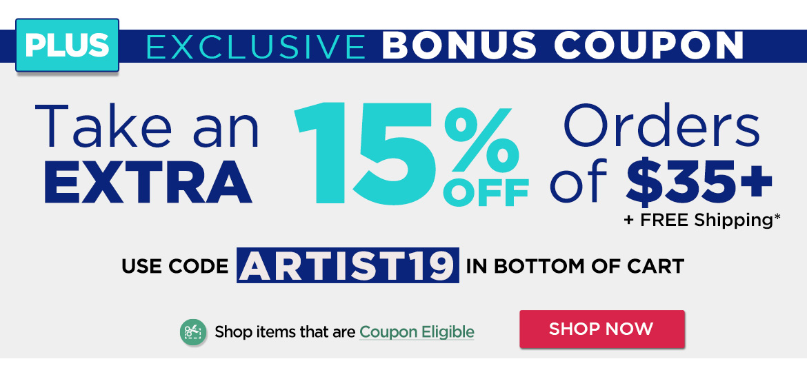 Save an Extra 15% Off - Shop for Coupon Eligible items