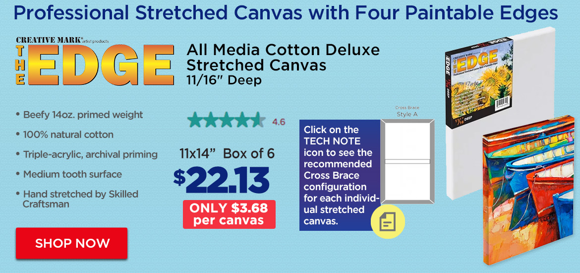 The Edge All Media Cotton Deluxe Stretched Canvas