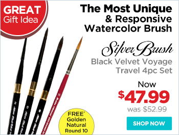 Silver Brush Black Velvet Voyage Brushes