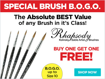Rhapsody Kolinsky Sable Artist Brushes