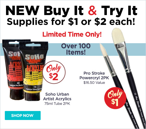 All New Buy It and Try It Art Materials for $1