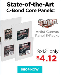 SoHo Urban Artist Cotton Canvas Panel 3-Packs