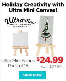 Ultra Mini Stretched Canvas And Easels