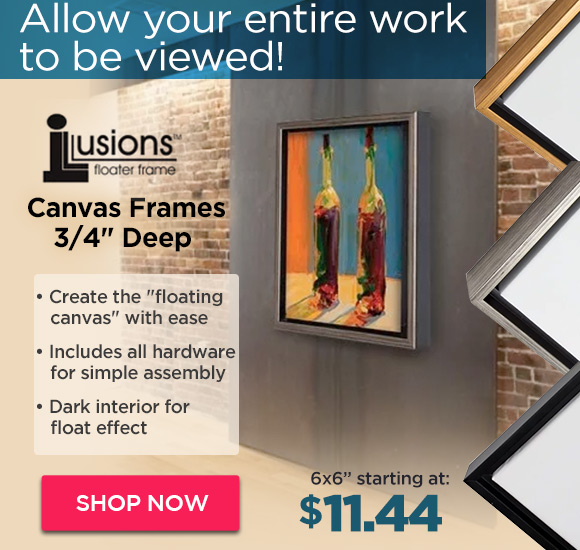 Illusions Floater Canvas Frames 3/4 Deep