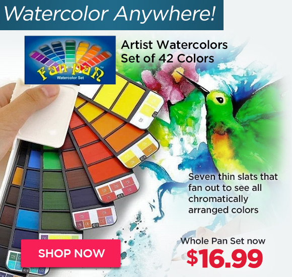 Fan-Pan Artist Watercolors Set