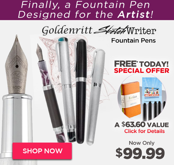 Goldenritt SketchWriter Fountain Pens