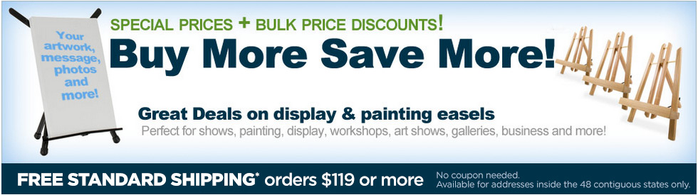 great deals on display and presentation easels