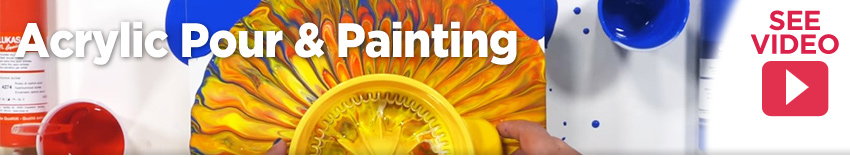 Shop for supplies for acrylic pour painting and mediums