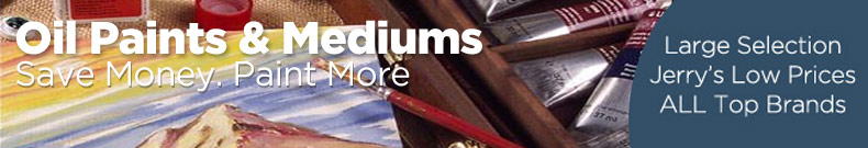 Shop and Save on Discount Artist and Professional Oil Paints & Mediums