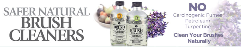 All Natural and Safe Brush Cleaner