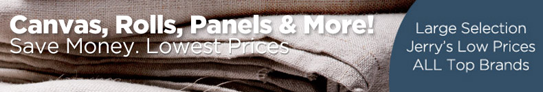 Shop and Save on Discount Artist Canvas, Rolls, Panels, Borads and Accessories