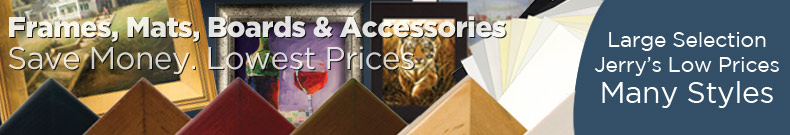 Shop and Save on Discount Artist Frames, Framing, Mats and Boards