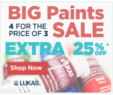 Shop LUKAS paints Sale - buy 4 for the price of 3