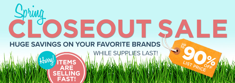 2017 Spring Closeout Specials