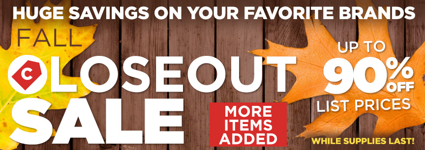 2018 Summer Closeout Specials