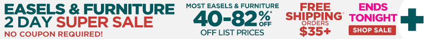 2 Day Sale on Popular Easels & Already Reduced Hot Buys