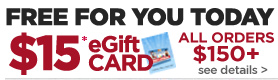 FREE $15 Jerry's eGift card when you spend $150+