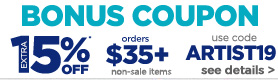 15% off $35 or more coupon on non sale items