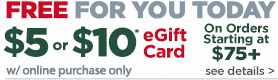 Free $5 or $10 eGift Card