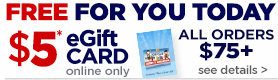 Free $5 eGift Card Offer
