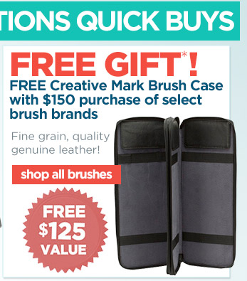 Free Brush Case with Purchase of select brush brands