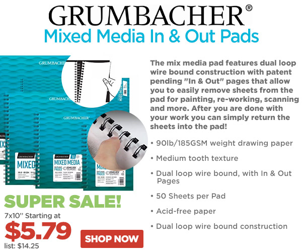 Grumbacher Mixed Media In and Out Pads