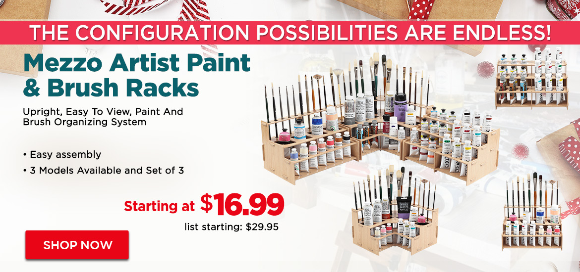 Mezzo Artist Paint & Brush Racks