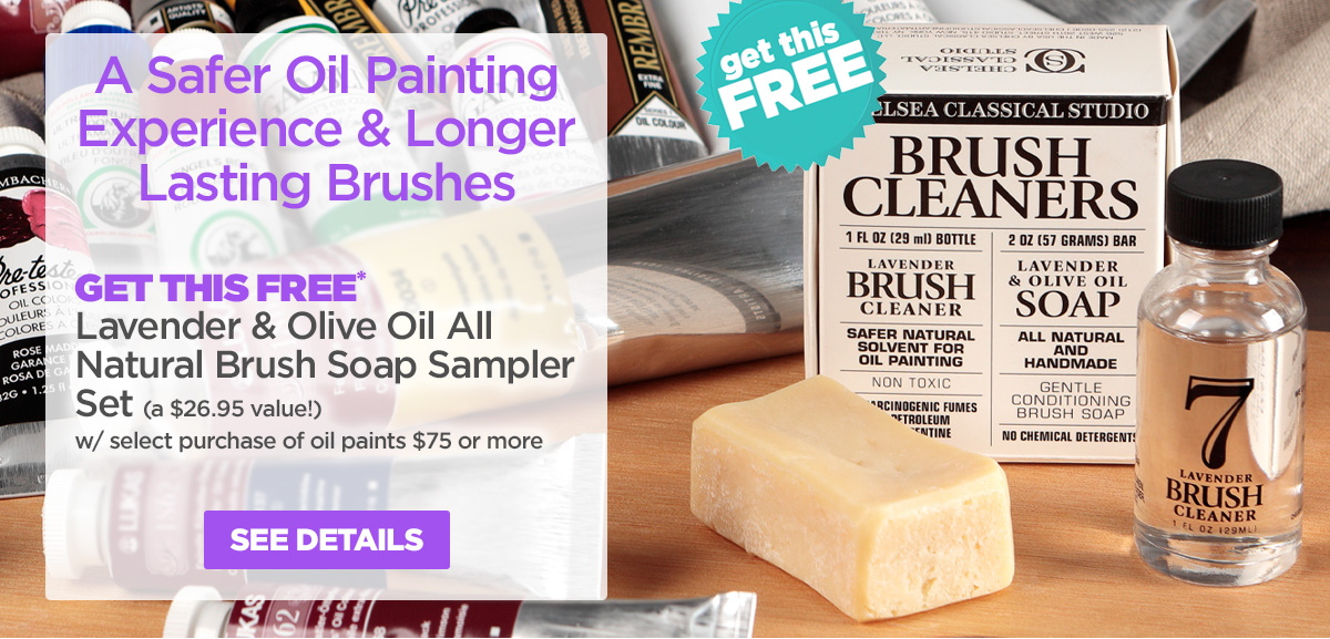 Lavender & Olive Oil All Natural Brush Soap Sampler Set