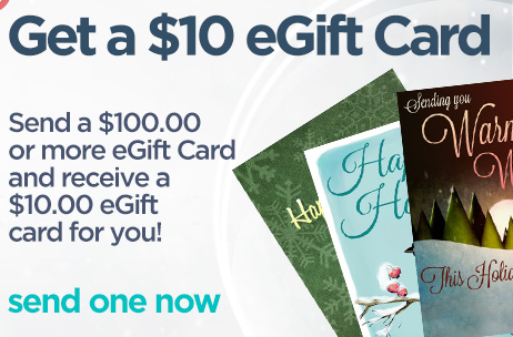 Free eGift Card when you send one