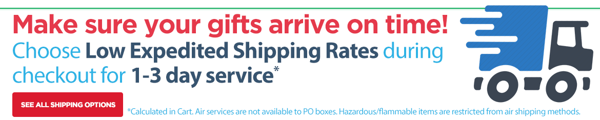 Choose Low Expedited Shipping Rates