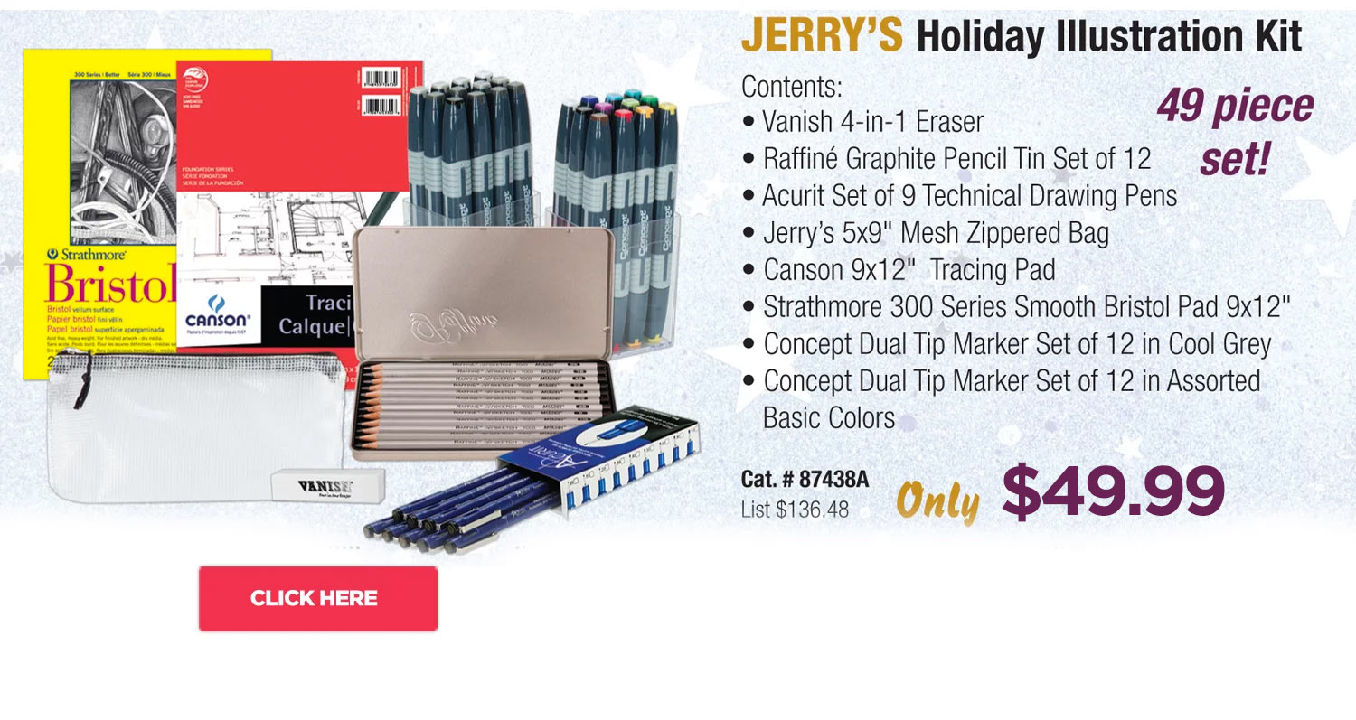 Jerry's Holiday Illustration Gift Kit
