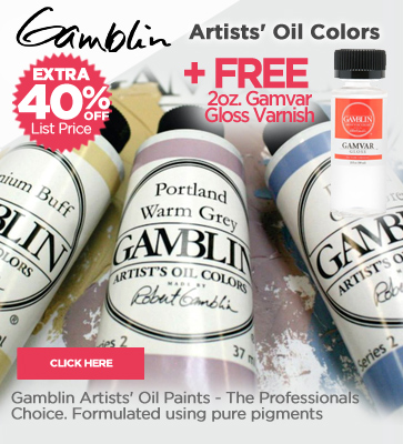 Gamblin Artist Oils 40% off + Free 2oz. Gamvar