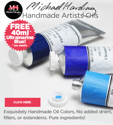 Michael Harding Oil Paints 40% off & Free Ultramarine Blue