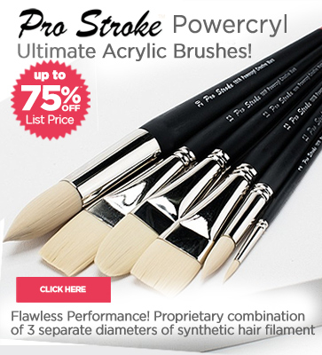 Pro Stroke PowerCryl Acrylic Artist Brushes