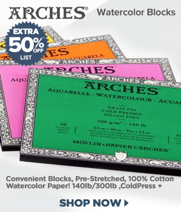 Arches Watercolor Blocks Sale 50% OFF