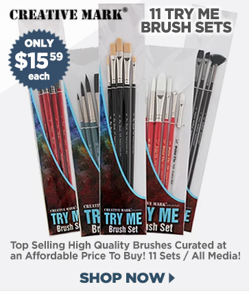 Artist Brushes for All Media, Try Me Brush Sets $15.59 each