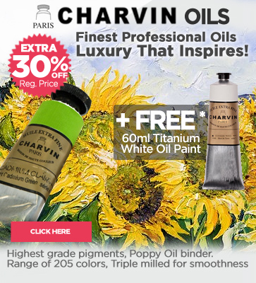 Charvin professional oil paints Extra 30% off + Free White