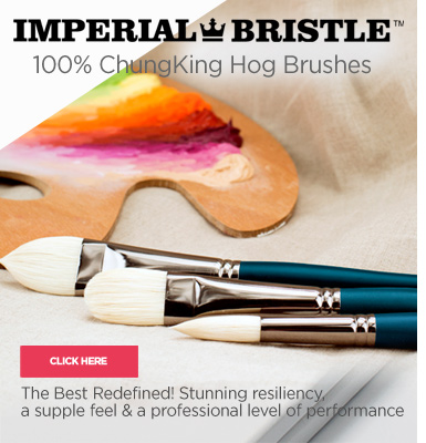 Imperial 100% ChungKing Hog Bristle Artist Painting Brushes