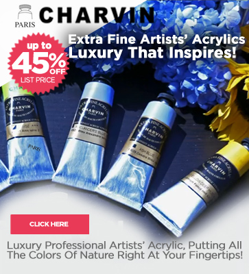 Charvin Extra Fine Artists' Acrylic Paints 45% off List