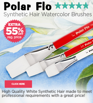 High Quality White Synthetic Hair Watercolor Brushes 55% OFF