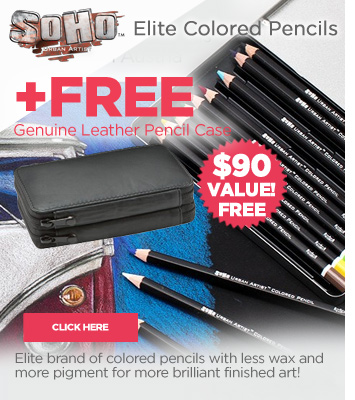 Colored Pencil Sets with Free Leather Case