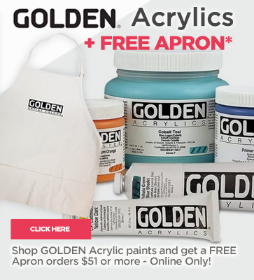 Golden Acrylics + Free Apron 51st Anniversary Sale
