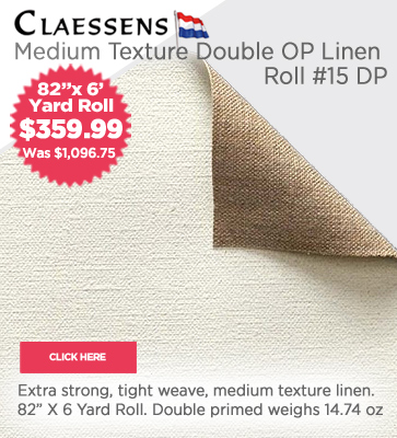 Claessens Double OP Linen Roll #15 Medium Texture