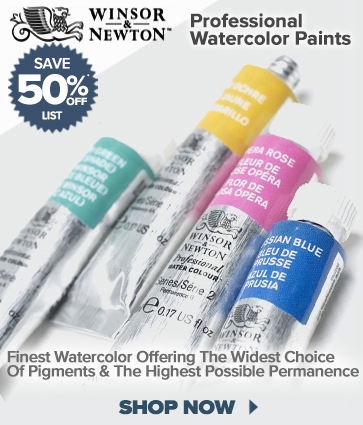 Winsor & Newton Professional Watercolor Paints 50% off