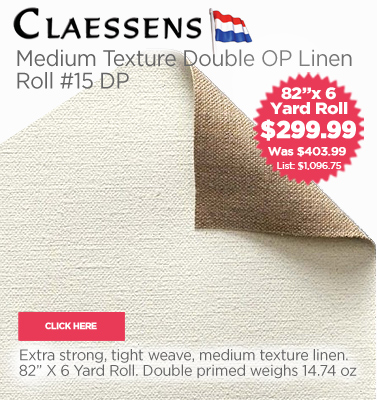 Claessens Oil Double Primed Linen Rolls