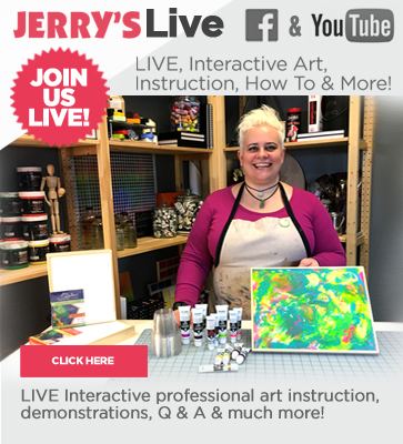 Jerry's LIVE art instruction streaming on YouTube & Facebook