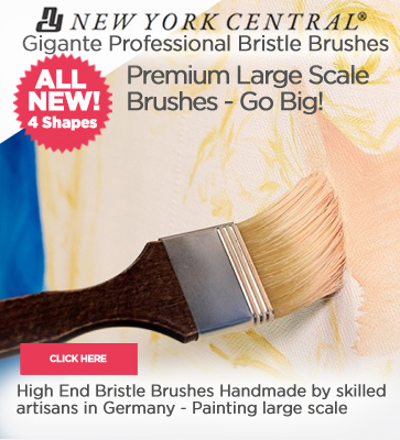 New York Central Large Scale Artist Brushes - Gigante Brushes