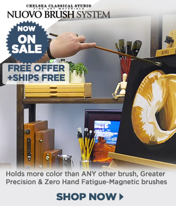 Nuovo Long Handle Professional Brushes = Free Special Alloy Medallions