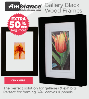 Ambiance Gallery Wood Black Frames