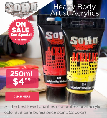 Soho Artist Acrylic Paints On Sale